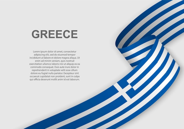 그리스의 깃발을 흔들며.