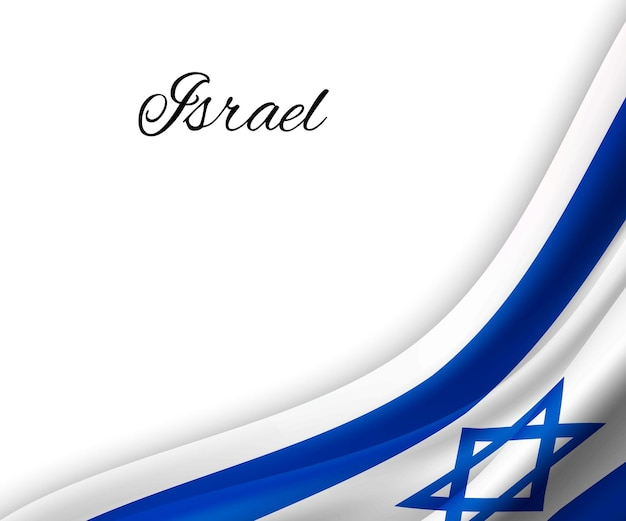 흰색 바탕에 이스라엘의 깃발을 흔들며.