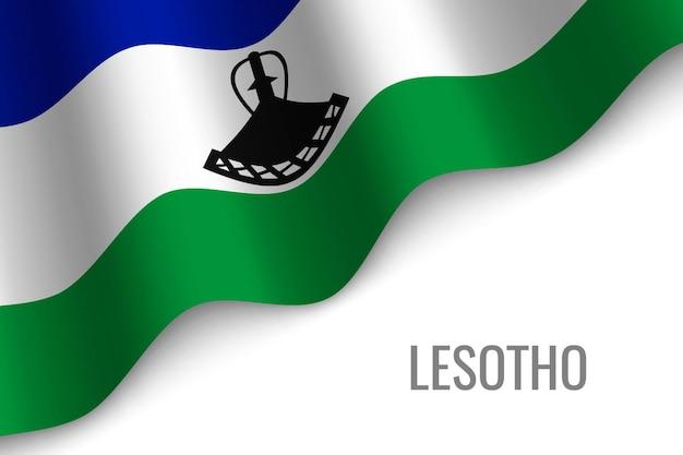 레소토의 깃발을 흔들며