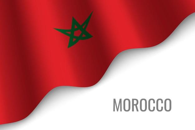 Marocco의 깃발을 흔들며