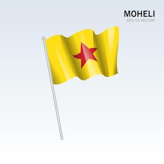 コモロ諸島のモヘリ島またはムワリ島の旗を振る