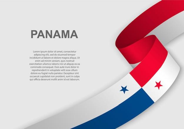 파나마의 깃발을 흔들며.
