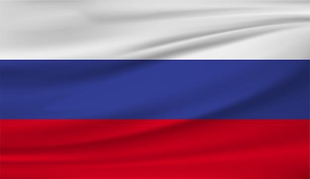 Развевающийся флаг россии шаблон