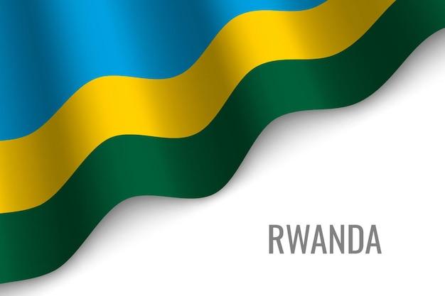 Развевающийся флаг руанды