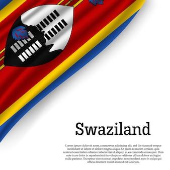 白地にスワジランドの旗を振る