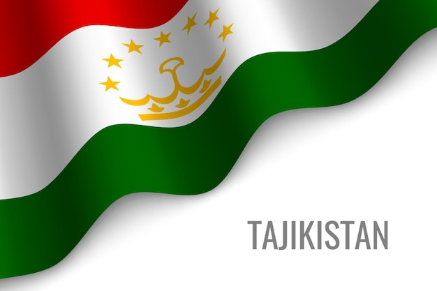 タジキスタンの旗を振る