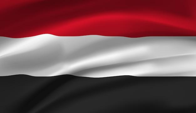 Развевающийся флаг египта. развевающийся флаг египта