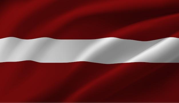 ラトビアの旗を振っています。ラトビアの旗の抽象的な背景を振る