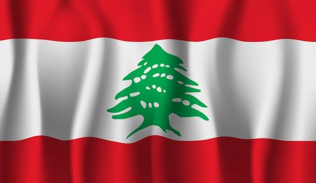 レバノンの旗を振っています。レバノンの旗の抽象的な背景を振る