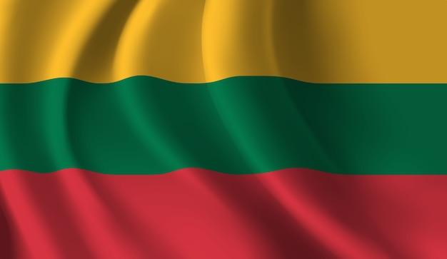 リトアニアの旗を振っています。リトアニアの旗の抽象的な背景を振る