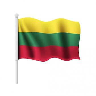 リトアニアの旗を振る