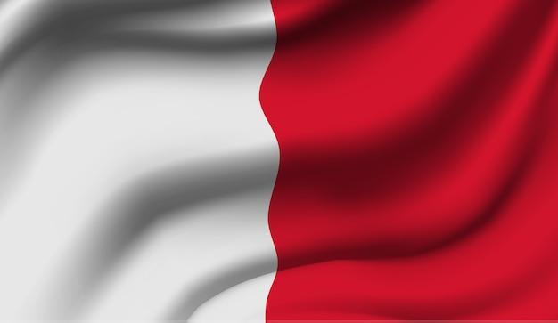 マルタの旗を振っています。