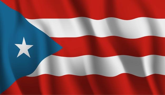 プエルトリコの旗を振っています。プエルトリコの旗の抽象的な背景を振る