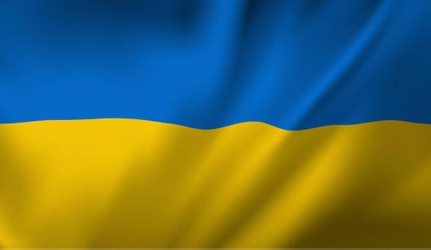 ウクライナの手を振るウクライナの旗の抽象的な背景を振る