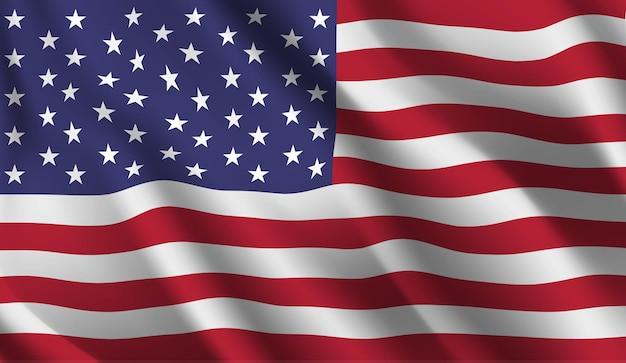 미국 국기를 흔들며 미국 국기 추상적 인 배경을 흔들며