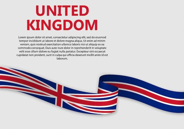 Размахивая флагом великобритании, векторная иллюстрация