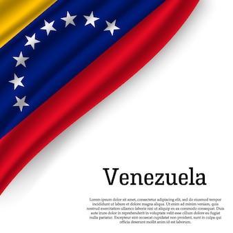 Развевающийся флаг венесуэлы на белом