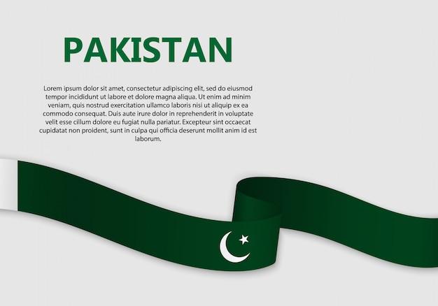 Waving flag of pakistan banner