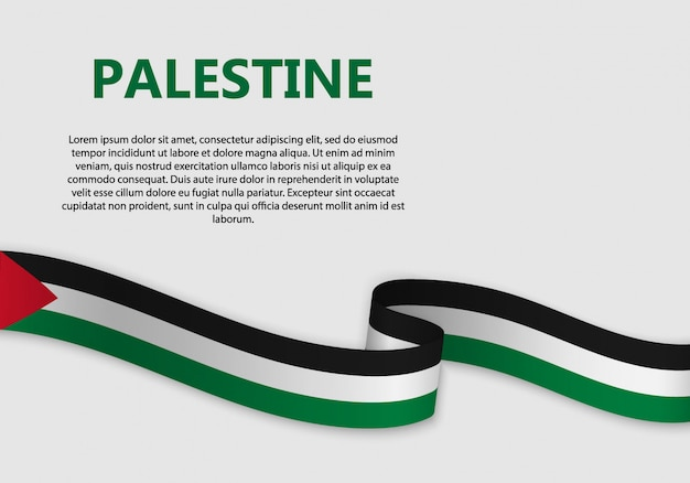 Waving flag of palestine banner