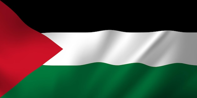 Waving flag of the palestine. waving palestine flag abstract background