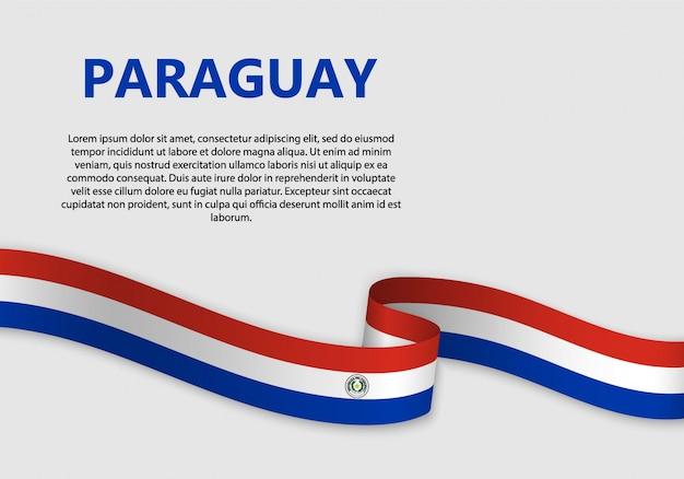 Waving flag of paraguay banner