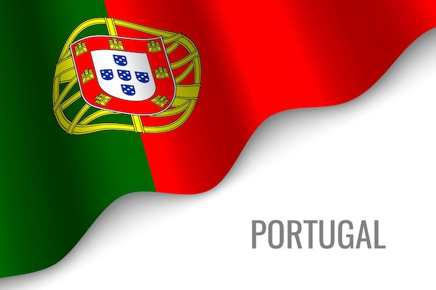 Waving flag of portugal