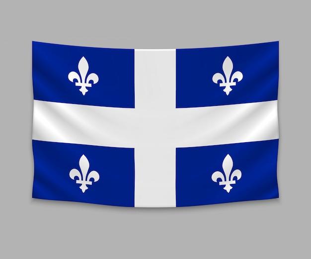Waving flag of quebec