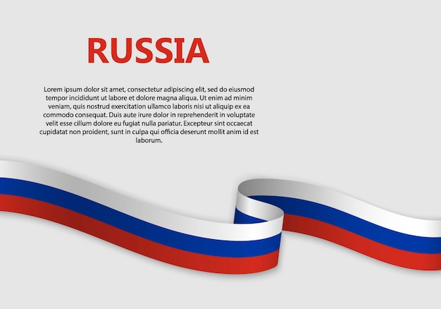 Waving flag of russia banner
