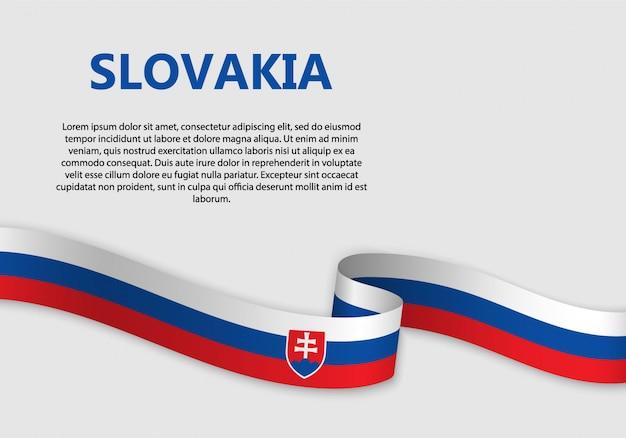 Waving flag of slovakia banner