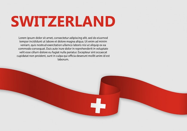 Waving flag of switzerland banner