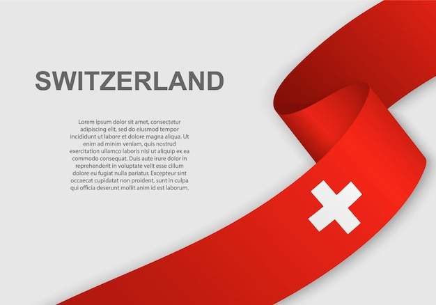Waving flag of switzerland.