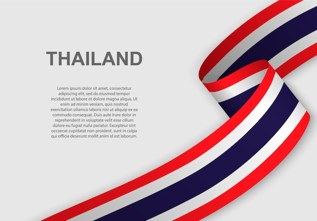 Waving flag of thailand.