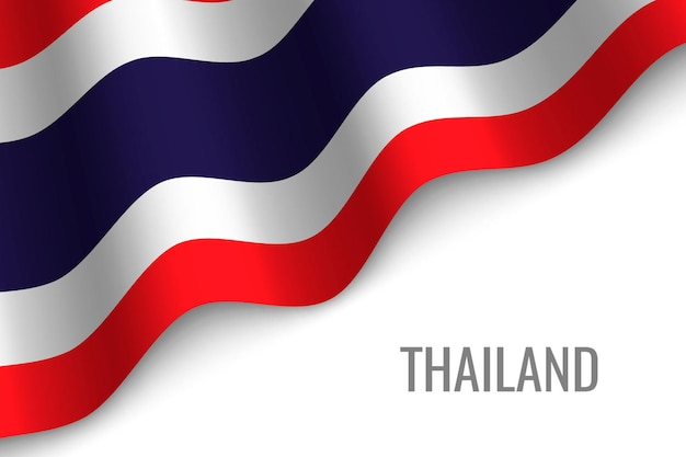 Waving flag of thailand
