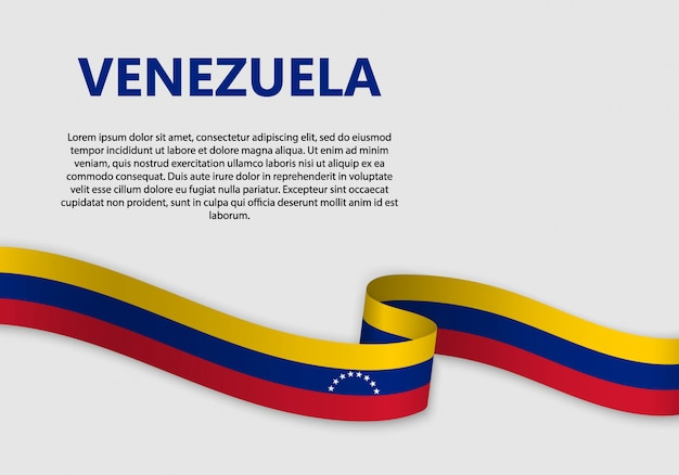 Waving flag of venezuela banner