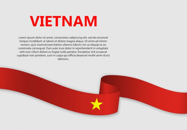 Waving flag of vietnam banner