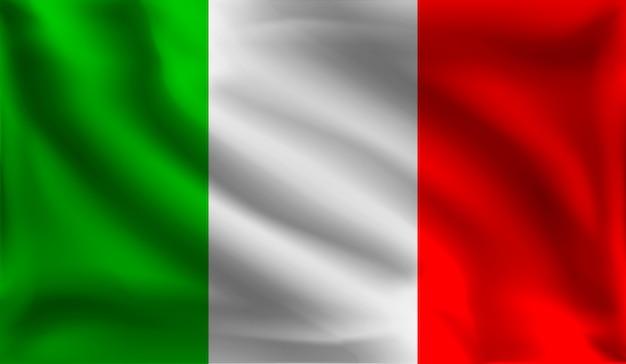 Размахивая итальянским флагом, флагом италии,
