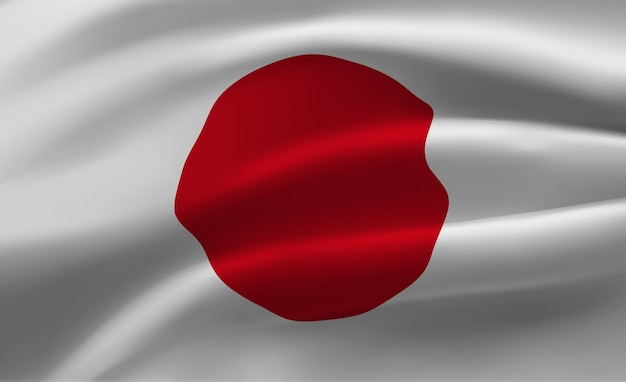 Размахивая флагом японии абстрактные иллюстрации
