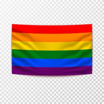 Waving lgbt flag