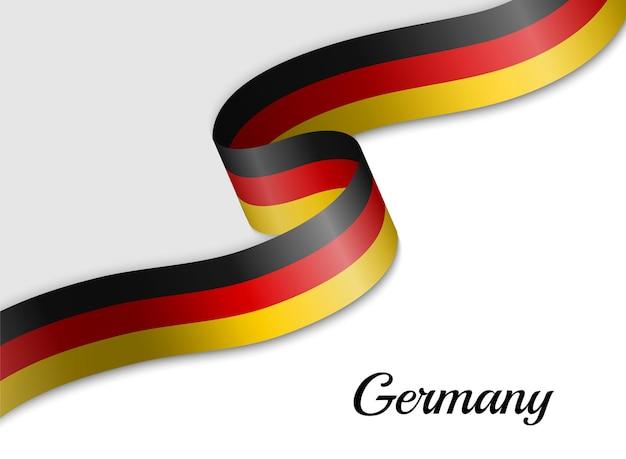 ドイツのリボン旗を振る