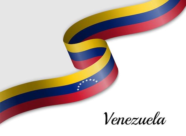 Развевающийся флаг венесуэлы ленты