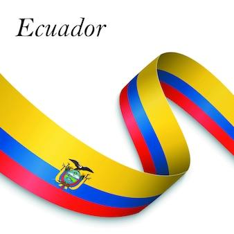 Waving ribbon flag