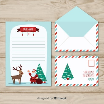 Waving santa christmas envelope