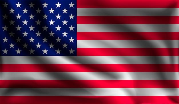 Waving united states flag, flag of america