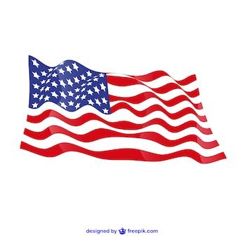 미국 국기를 흔들며