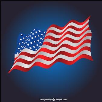 미국 국기 템플릿을 흔들며