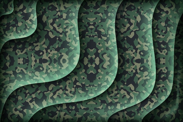 Waving with camouflage soldier seamless pattern silk cloth textile
