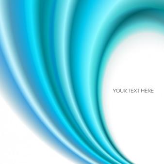 ターコイズ色の波状抽象的な背景