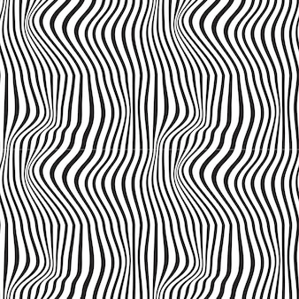Wavy abstract seamless background pattern. black and white. waves