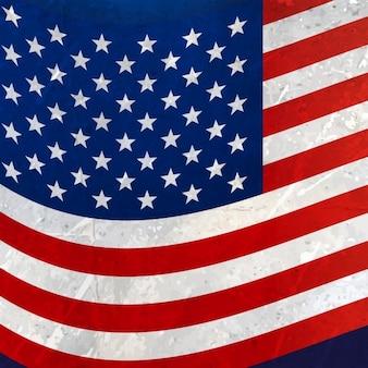 Волнистый американский флаг фон