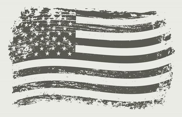 波状のアメリカ国旗
